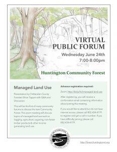 Forum Flyer #1 - Managed Land Use